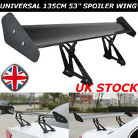 "53"" 135cm Universal Hatch Adjustable Aluminum GT Rear Trunk Wing Racing Spoiler"