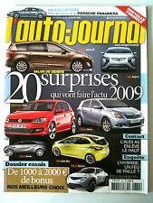 L'AUTO-JOURNAL du 03/2009; Porsche Panamera/ Salon de Genève/ Essai 1000 à 2000e