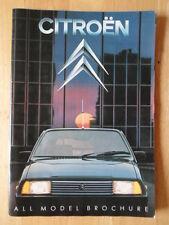 CITROEN Range 1982 prestige brochure 2CV6 Dyane 6 Visa GSA CX GTI Prestige