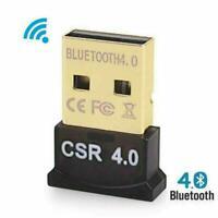 USB 2.0 Mini Bluetooth CSR4.0 Adapter Dongle For PC VISTA 8 XP 7 LAPTOP WIN D1N3