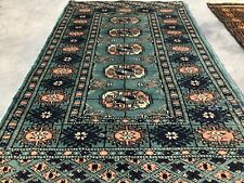 New listing Hand knotted Vintage Pakistan Bokhara Jhaldar Wool Area Rug 3 x 2 Ft (8653 Bn)