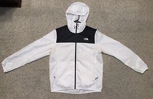 The North Face Rain Jacket Black White Medium Sundowner Full Zip Tnf Hood 1 2 3