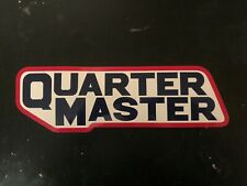 Quarter Master decal sticker NASCAR ARCA NHRA HOT ROD CRA ASA STOCK CAR RACING
