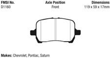 EBC Yellowstuff 4000 Brake Pad Set Front for Chevrolet Pontiac Saturn DP41763R