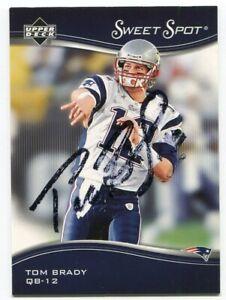2005 Tom Brady Signed Upper Deck Sweet Spot #55 Football Autographed Signature