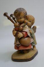 """Anri """"Bag Piper Boy with Angel Helper"""" 5"""" By Ferrandiz Near Mint Store Display"""