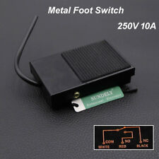 Metal Antislip Industrial Foot Operated Pedal Foot Switch AC 250V 10A Hot
