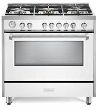 "Verona Designer Series Vdfsgg365W 36"" All Gas Range Convection Oven White"
