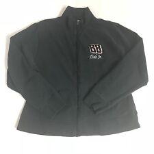 Dale Earnhardt Jr Womens Chase Authentics NASCAR Black Knit Zip Up Jacket Sz M