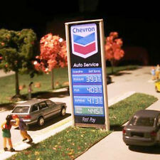 CHEVRON 1 Neon Light Sign for Service Station ONE face-LEFT or Righit  1/87