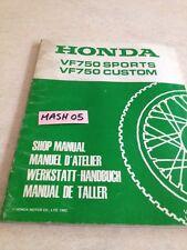 supplément manuel atelier Honda VF750C VF750S VF750  VF 750 Shop manual éd. 82