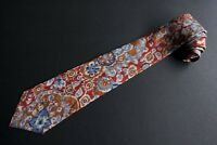 Vitaliano Pancaldi Tie Blue Brown Abstract Geometric 100% Silk Made in Italy