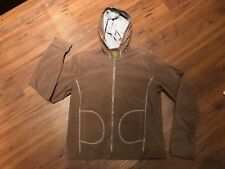 Pulp Women's Medium Brown Hoodie Hoodie Jacket Lightweight