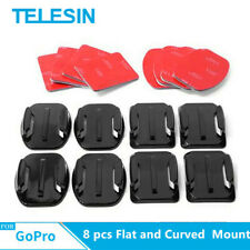 8 pcs Flat and Curved Adhesive Sticker Mount Helmet for GoPro SJCAM, Xiaomi DJI