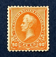 Scott US #229 - 1890-93 Regular Issue, Perry, 90 Cents; Mint Hinged; OG; CV=$450