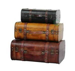New Vintiquewise Vintage Style Luggage Suitcase/Trunk
