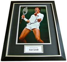 IVAN LENDL Signed FRAMED Photo Mount Autograph Display Tennis Memorabilia & COA