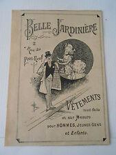 Belle Jardinière Vêtements tout faits pour Hommes enfants  Pub image print 1894