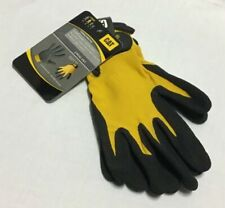 Cat - Nitrile Coated Palm Work Safety Gloves String Knit Yellow - LARGE
