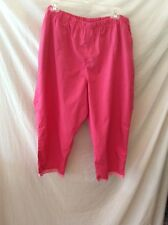 Blair Long Capris ~ XL ~ Pink ~ Elastic Waist