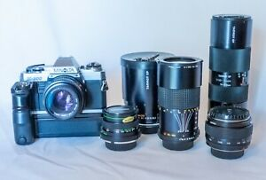 Minolta x-300 Tamron - SP 500mm F/8 Mirror Lens - Lens x5 - Case - Bundle