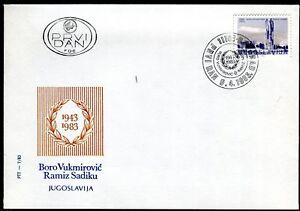 1983b - Yugoslavia 1983 - Monument Boro and Ramiz - Landovica - FDC