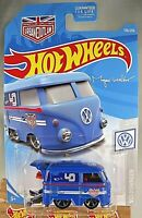 2019 Hot Wheels #136 Volkswagen 2/10 KOOL KOMBI Blue  Magnus Walker Urban Outlaw