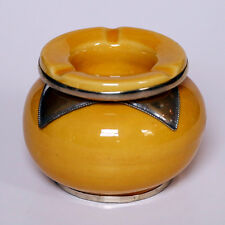 MAROCCHINA ORIENTALE CERAMICA ARTIGIANALE Portacenere giallo D10CM