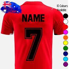 Iron On Sports Football Soccer Jersey Uniforms T-Shirts PU Vinyl Numbers 24CM