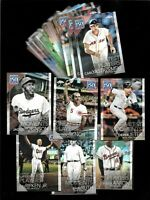 2019 Topps Chrome Update 150 Years of Professional Baseball LOT - 37¢ a card!