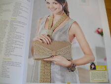 KNITTING PATTERN FOR LADIES SCARF AND BAG SET.