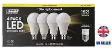 B22/E27 Bombillas LED regulable 100 vatios Paquete de 4 Lúmenes Regulable Feit 1521
