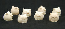 10 Mini Owls, Silicone Mold Chocolate Polymer Clay Jewelry Soap Wax Resin