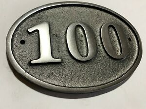 Cast Aluminium Oval House Door Number Sign Address Solid Metal