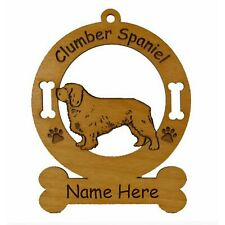 Clumber Spaniel Stand Dog Breed Ornament Personalized With Your Dogs Name 2152