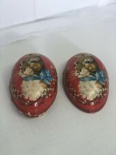 Early 1900s Paper Mache Rabbit Candy Easter Egg with Bunny