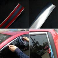 10MM x 15M Chrome Styling Moulding Trim Strip Self Adhesive Meter Car Window