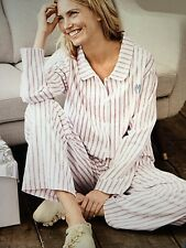 NWT S 6-8 Garnet Hill Flannel Pajamas in the Red Striped Pattern