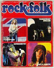 Revue Rock & Folk Décembre 1976 Tangerine Dream Patti smith Aerosmith