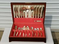1847 Roger Bros LEILANI America's Finest Silverplate Flatware (45) pc Set in box