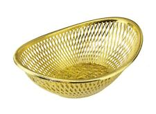 2 x SILVER or GOLD SERVING POPPADOM BASKET TRAY NANS BREAD ROLLS ROTI