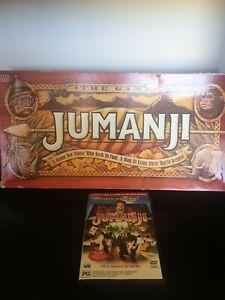 Original 1995 JUMANJI Board Game Milton Bradley + Jumanji Dvd Robin Williams