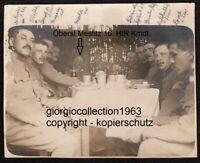 Offiziere zu Eßen, Oberst Mestitz 16.HIR Kommandant, 1.WK Foto