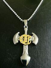 Stainless steel cross on bead chain christmas birthday wedding gift m35