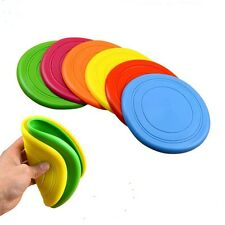 Big Pet Dog Training Soft Frisbee Flying Disc Frisby Fetch Silicone Toy
