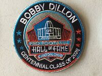 """BOBBY DILLON 2020 CENTENNIAL NFL HALL OF FAME 4"""" PATCH GREEN BAY PACKERS"""