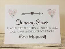Rustic/Vintage/Shabby Chic Dancing Feet, Flip Flop Wedding Sign