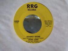 45} DORIS DUKE RRG RECORDS DIVORCE DECREE / CONGRATULATIONS BABY EX-NM COPY