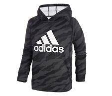 *NEW - Adidas Youth/Big Boys Black Camo Fleece Hoodie - Size: S(8) - XL(18/20)