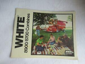1981 White 8900 8700 combine brochure